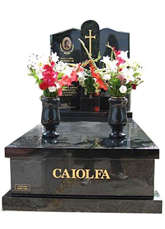 Burwood Regal Black (Light) and Royal Black Full Monument Caiofla Cemetery Memorial