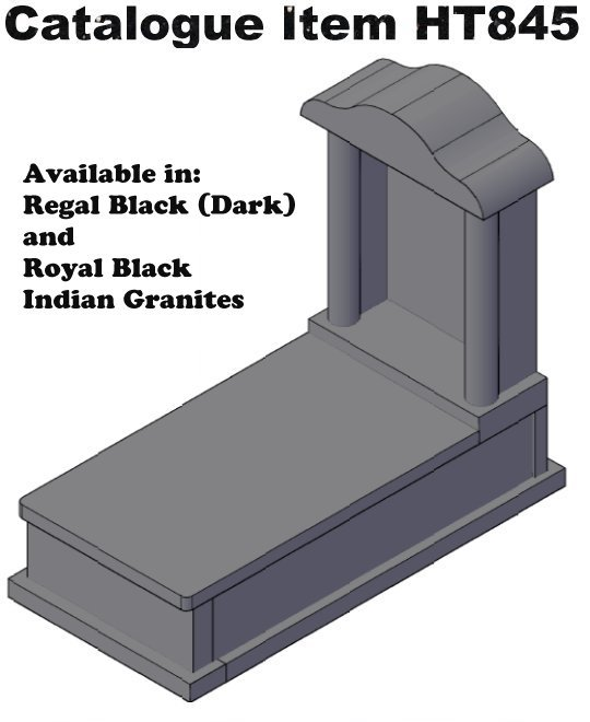 Grave Monument and Monument Headstone Catalogue Items HT845