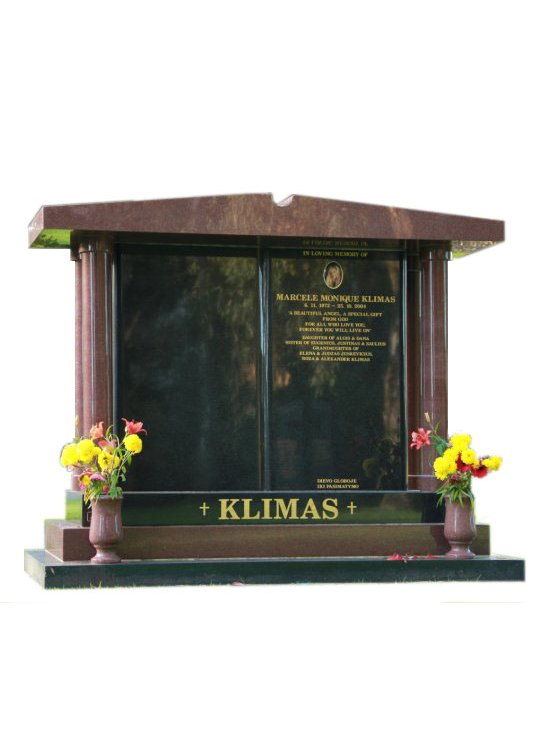 Headstone Cemetery Memorial Rose Red And Royal Black Indian Granites Klimas Springvale