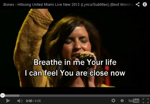 Breathe In Me Your Life by Hillsong on YouTube