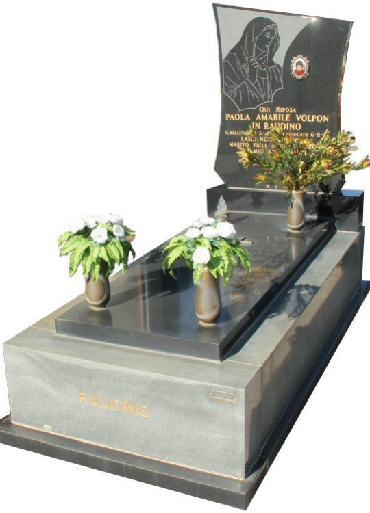 Tombstone, built in Cera Grey and Y A 4 Black Indian granite for Raudino in the Box Hill graveyard.